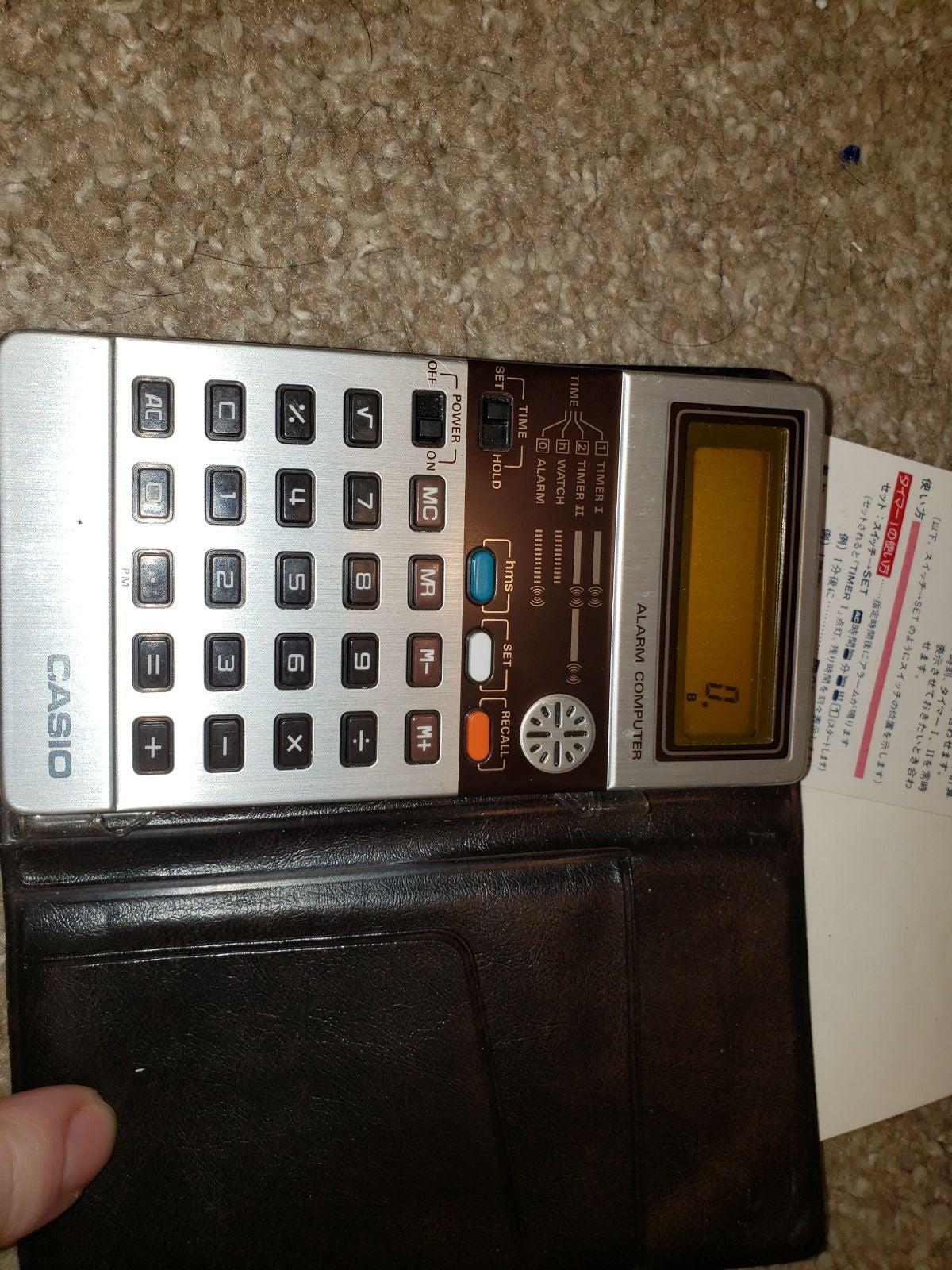 Vintage Casio Calculator Alarm Computer