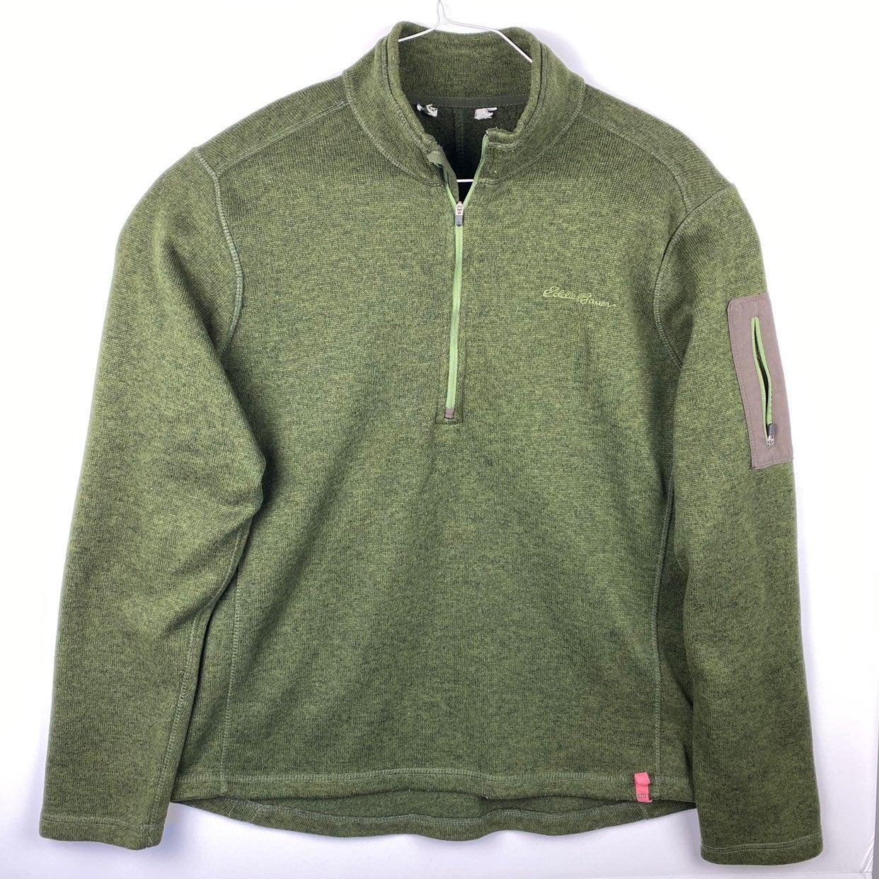 Eddie Bauer Mens Large Green Long Sleeve