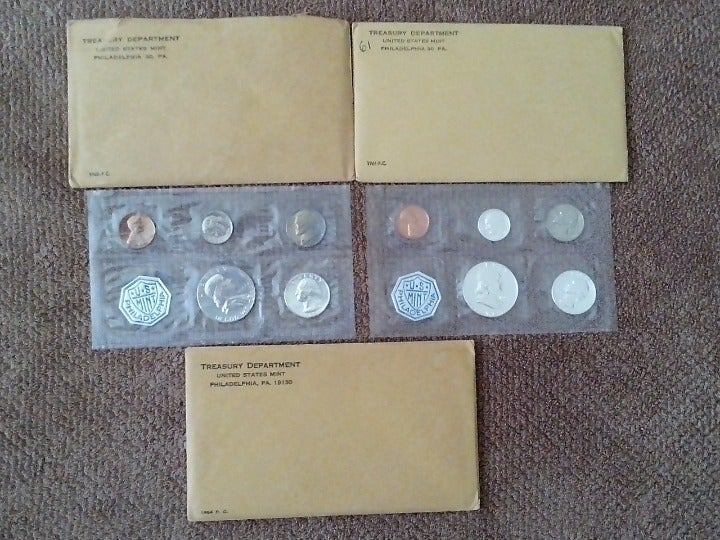 ORIGINAL PACKAGES OF SILVER PROOF SETS