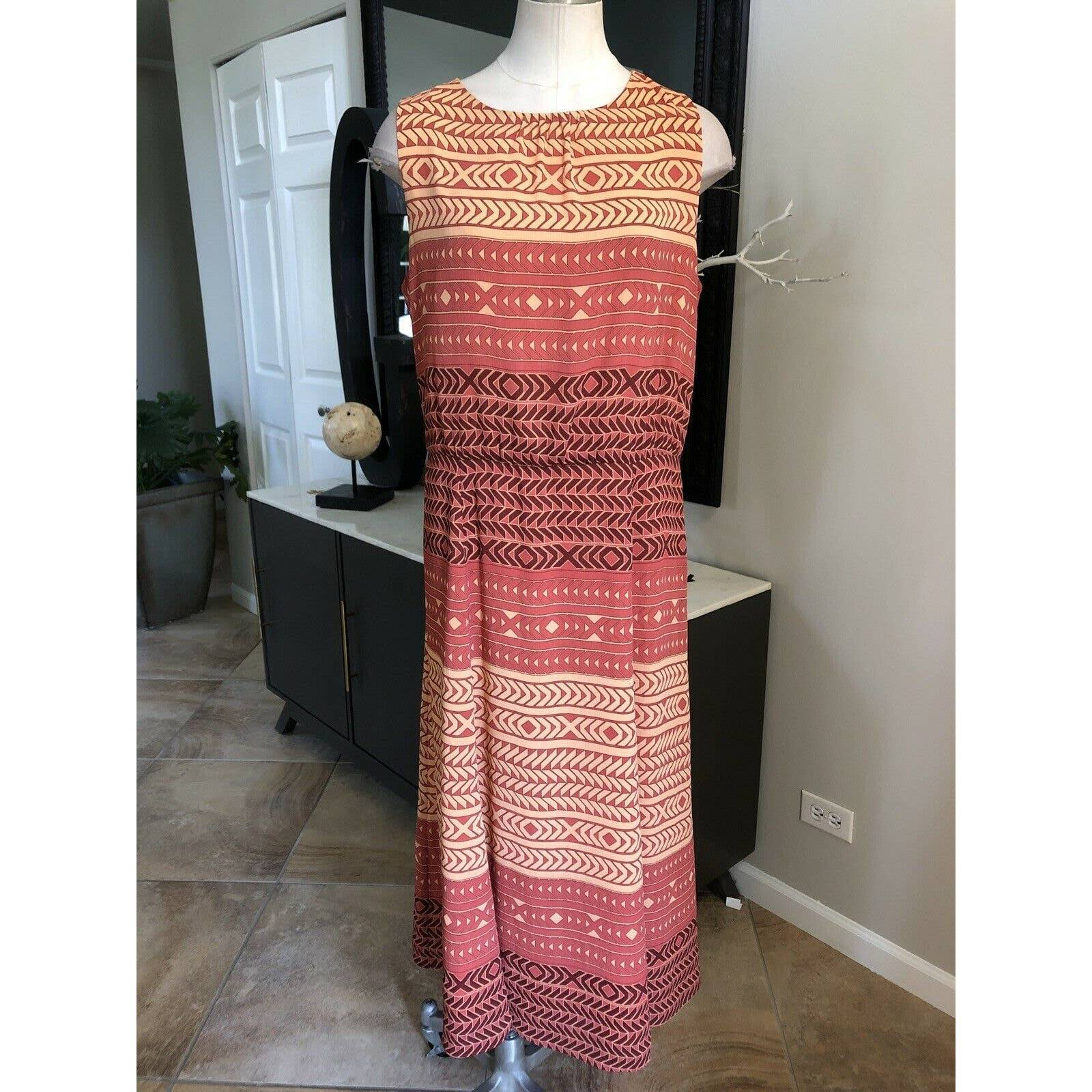Pendleton 12 Geo Striped Midi Dress
