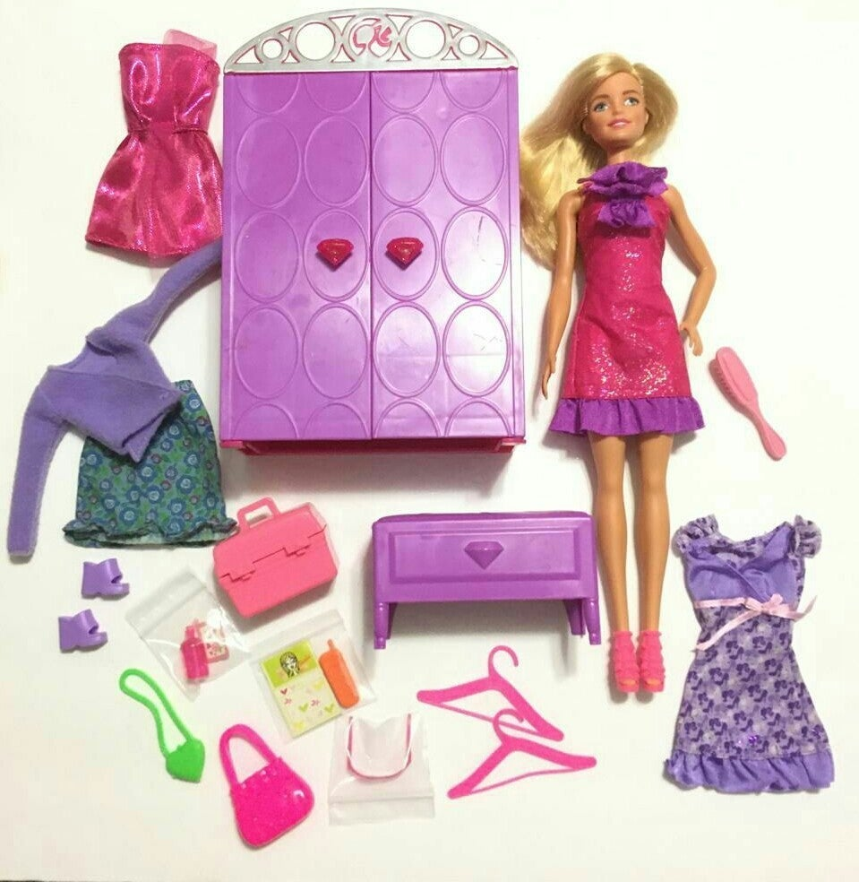 Barbie Dress Up to Makeup Set & Doll