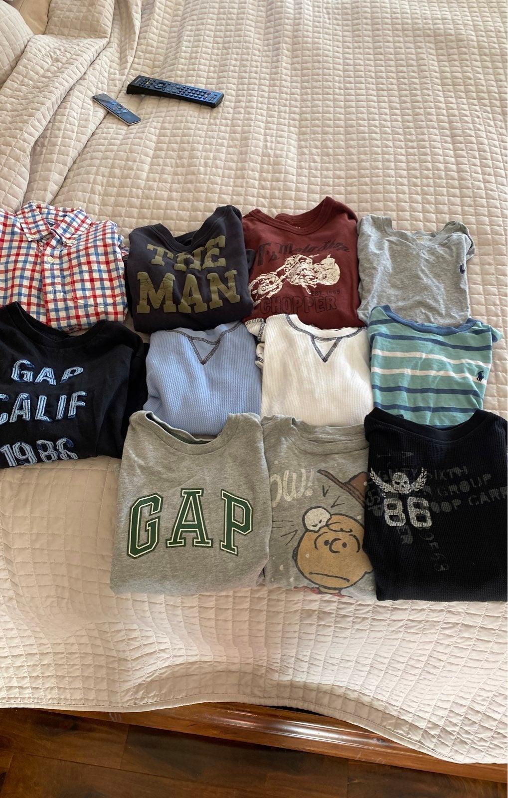 Boys 6 7 tops gap, polo, crewcuts shirts