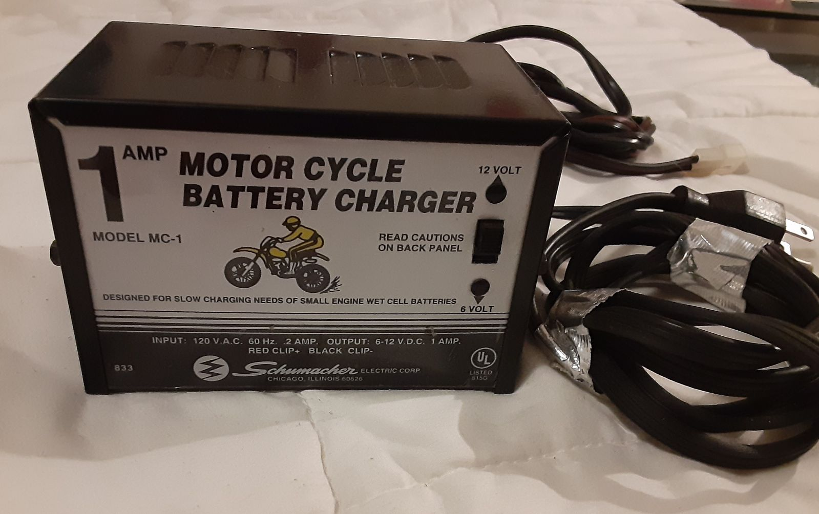 1AMP Motorcycle  battery charger