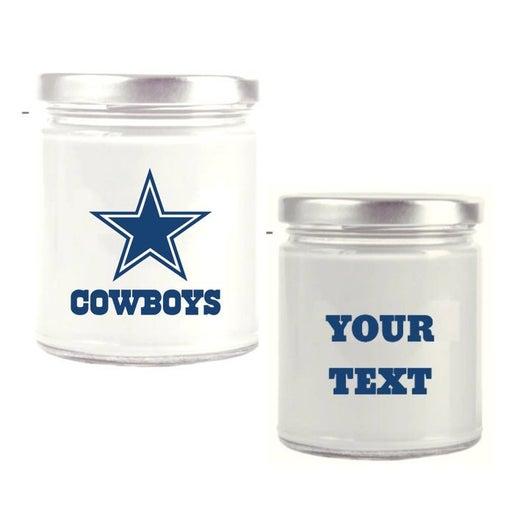 Dallas Cowboys Candle Customizable