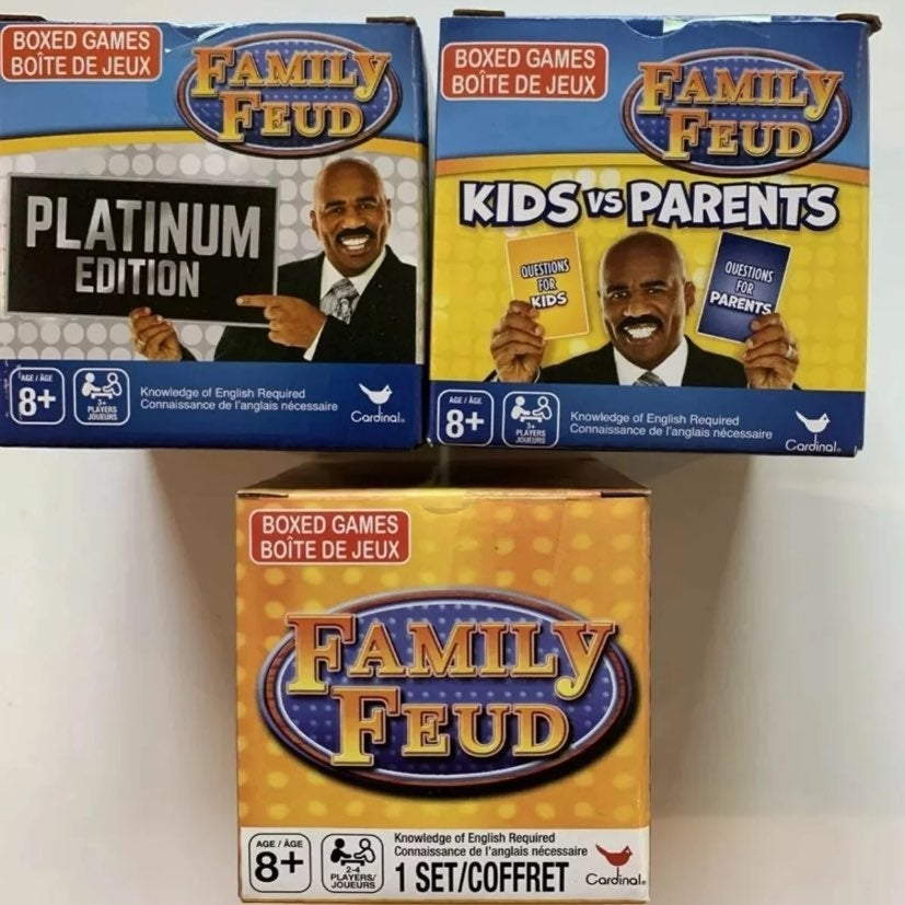 Family Feud Total of 3 Games All are New