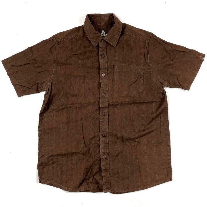 Prana Mens Button Shirt Sz S Shortsleeve