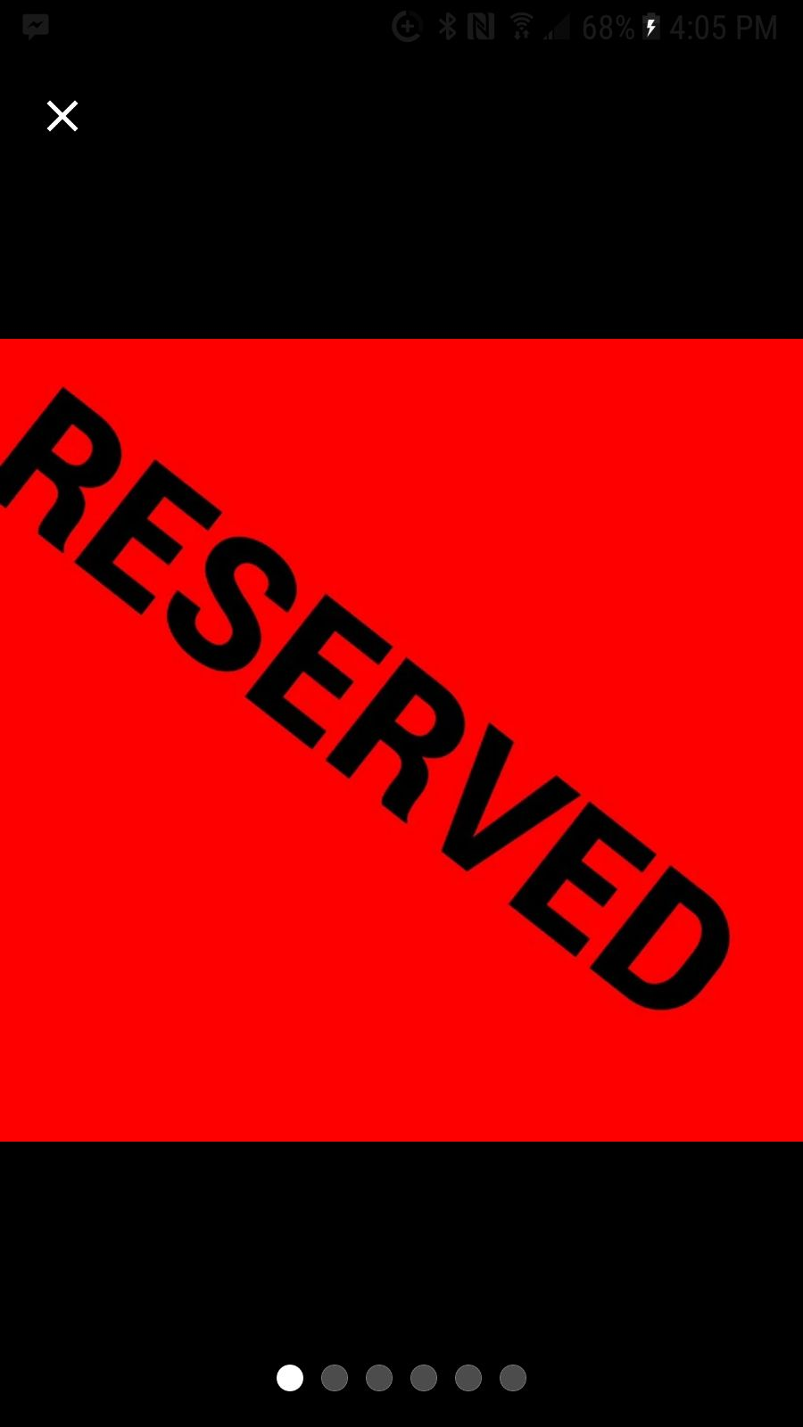 RESERVED listing!