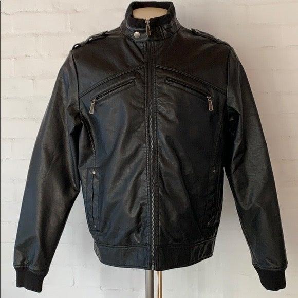 Brave Soul Faux Leather Coat Jacket XL