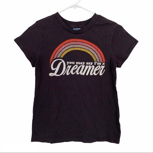 Junk Food John Lennon Lyric T-Shirt Sz S
