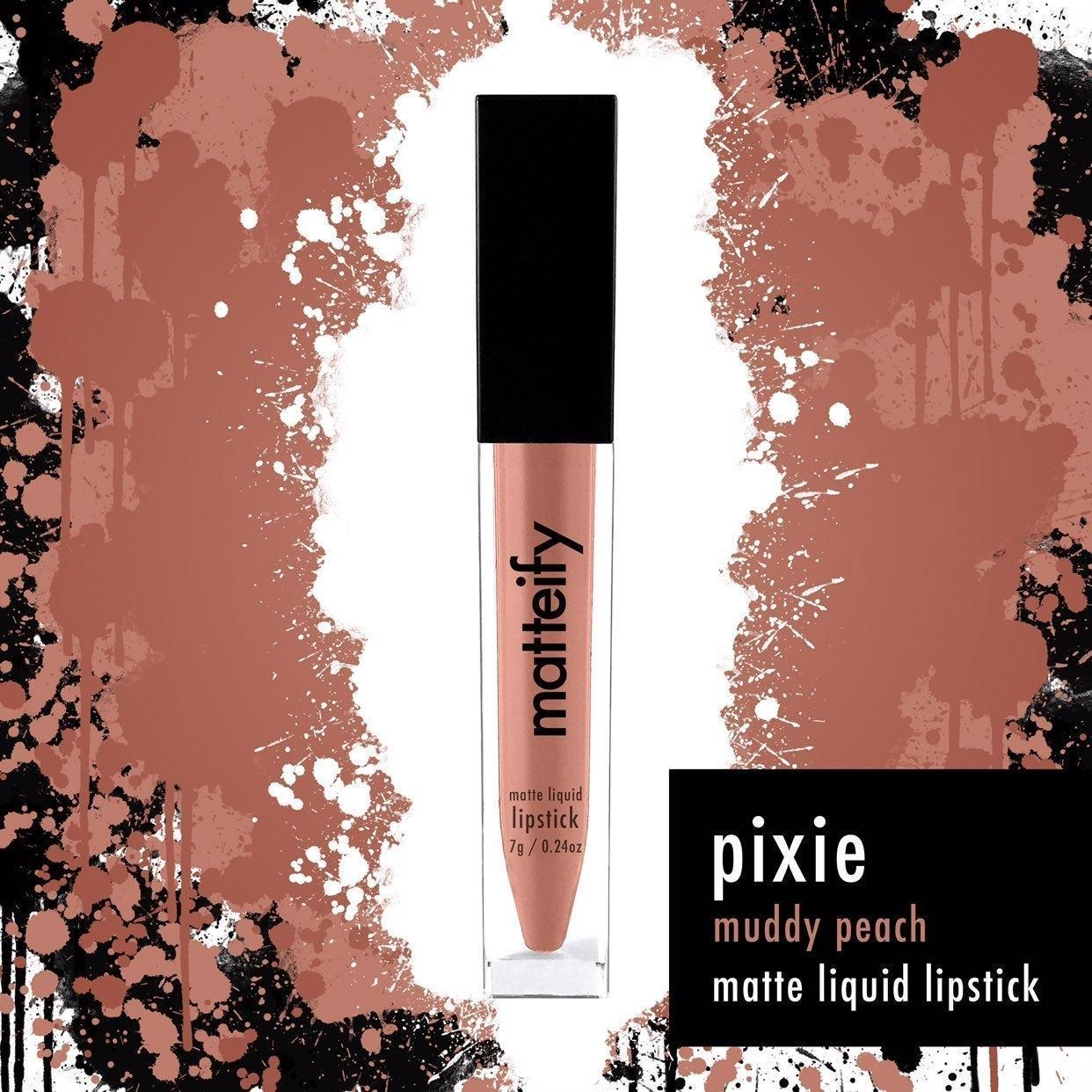 Matteify matte liquid lipstick peach lip