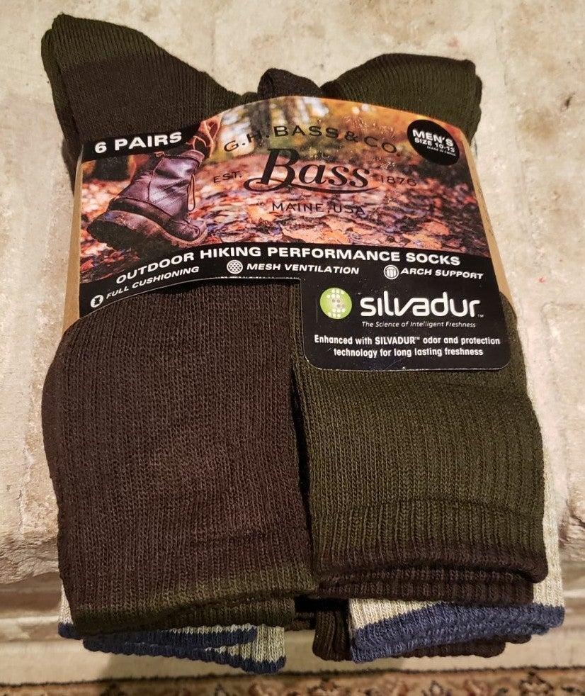 New bass socks men's sz 10-13