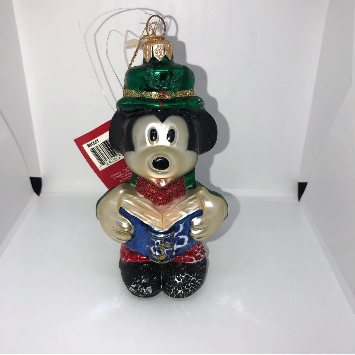Mickey Mouse european glass ornament
