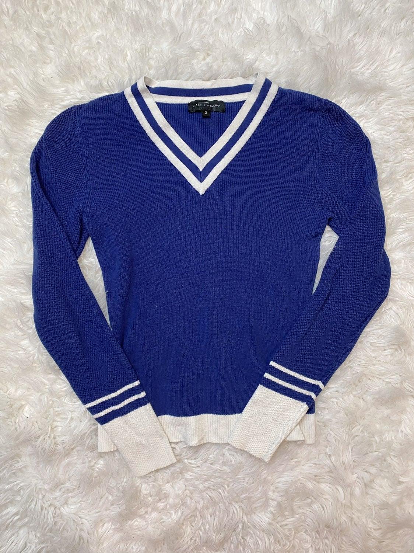 Slate & Willow Blue Varsity Sweater