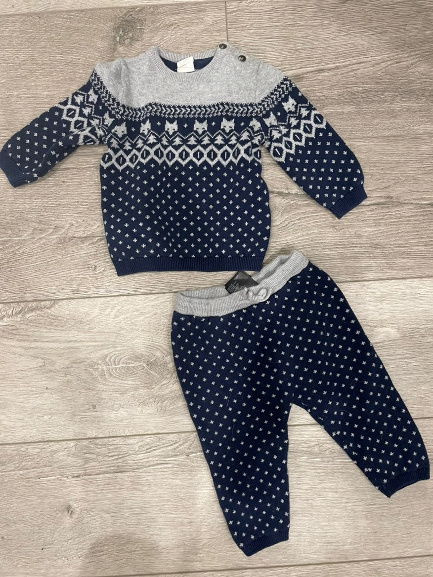 H&M knit sweater outfit 9-12M