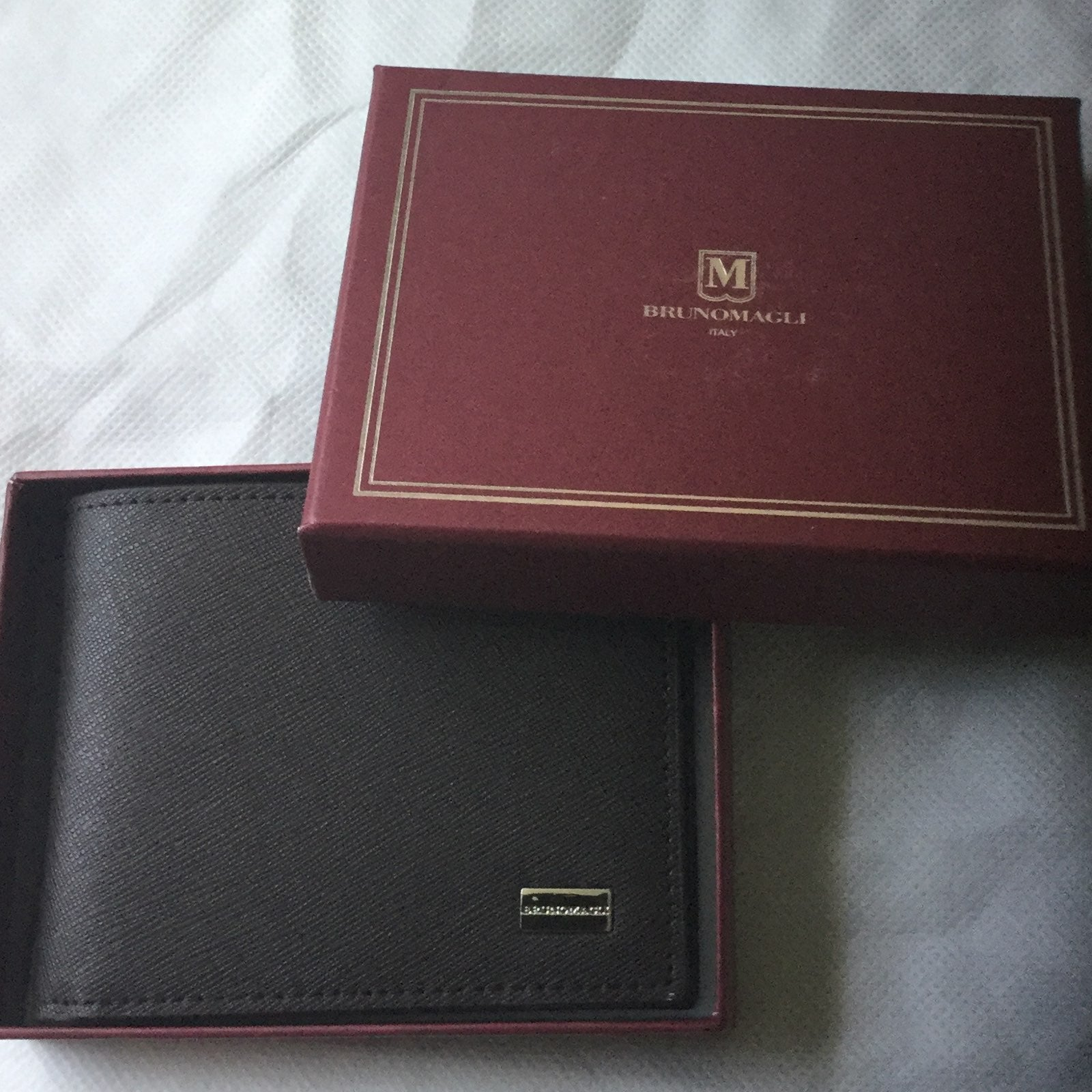 BRUNO MAGLI ITALY MEN LEATHER WALLET NEW