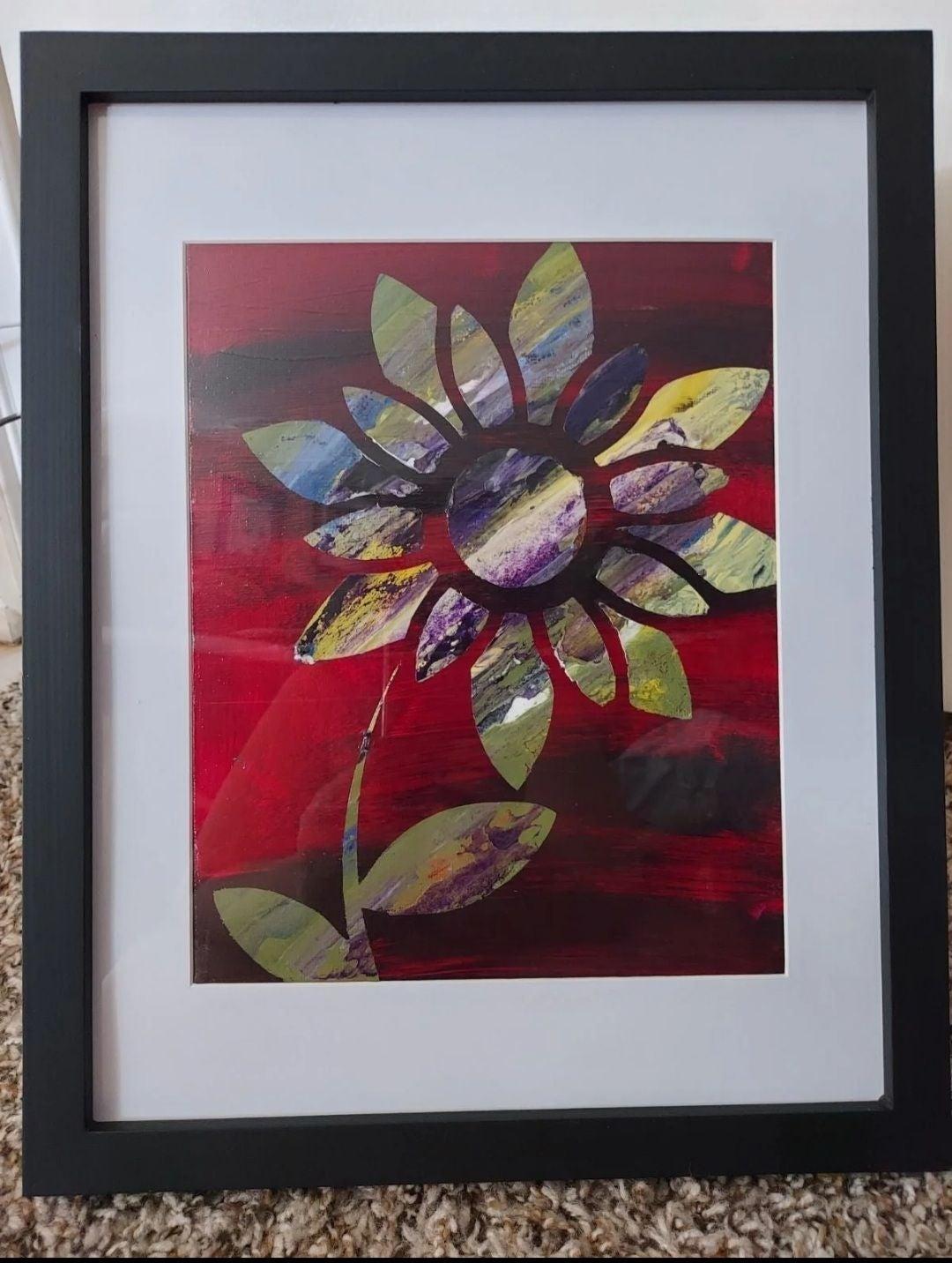 "8"" x 10"" Flower Painting Acrylic"