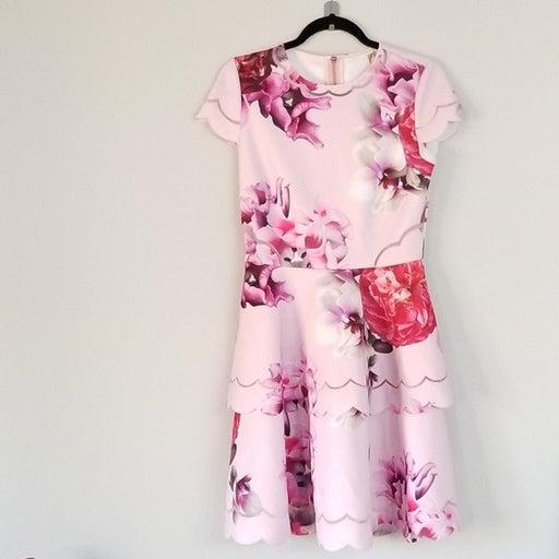 NWOT TED BAKER PINK FLORAL DRESS