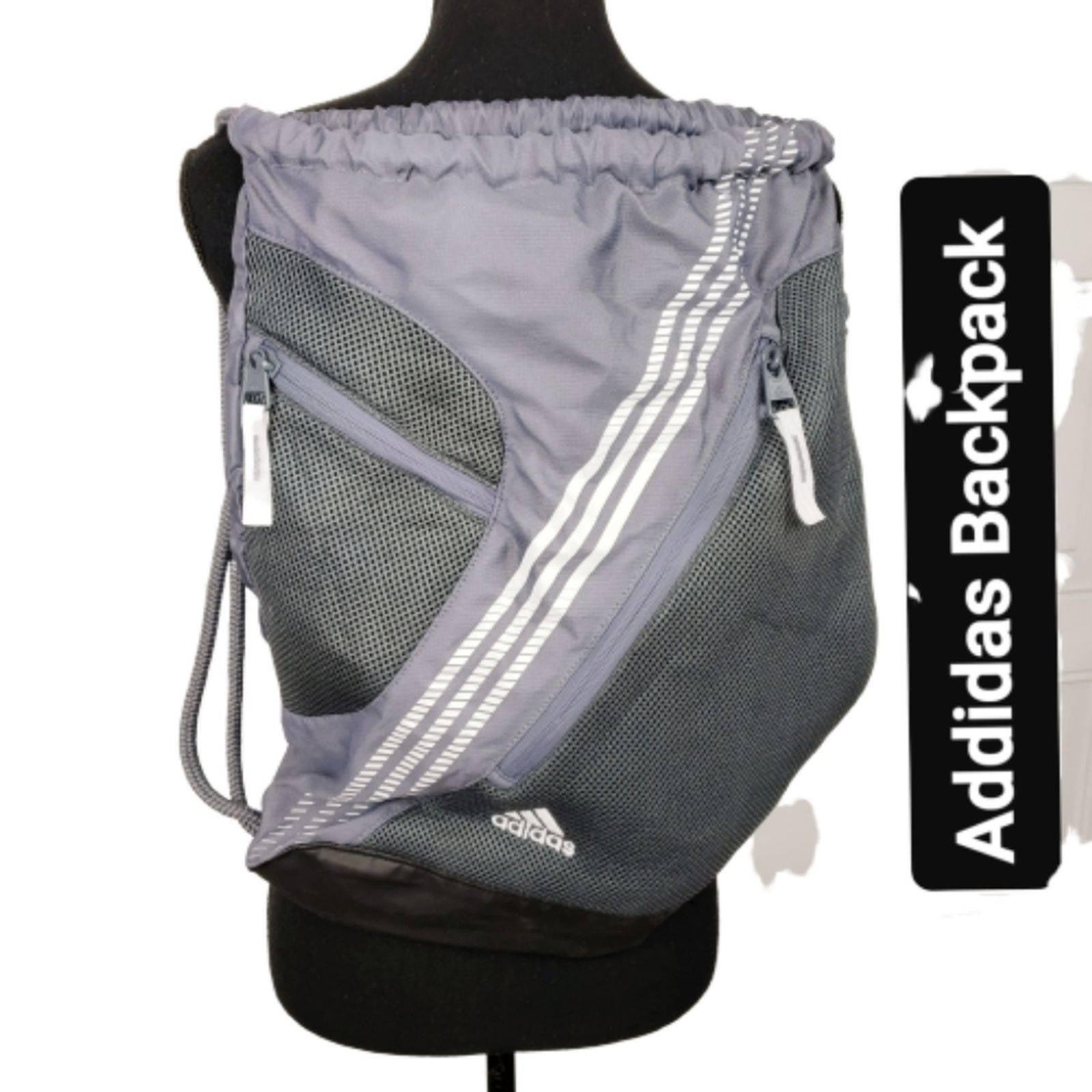 Adidas Backpack Zip Pockets Drawstring
