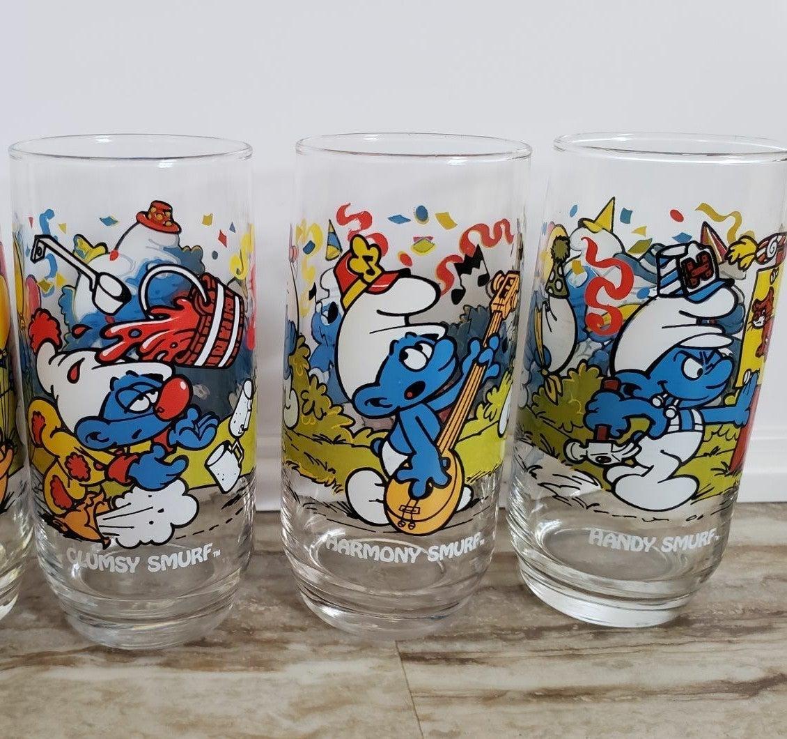 Vintage 1983 Smurf Drinking Glasses