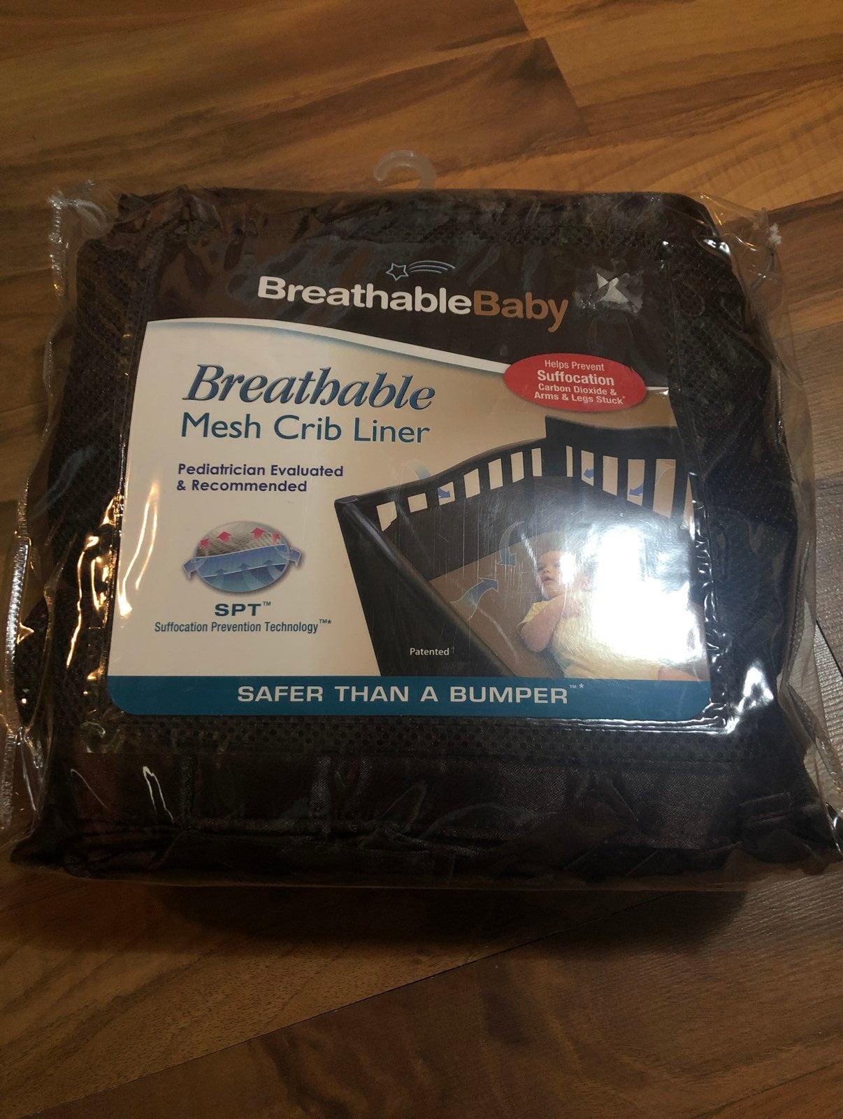 Breathable Crib Liner Dark Brown
