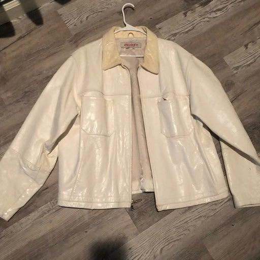 Avirex White Leather Jacket 3XL Used