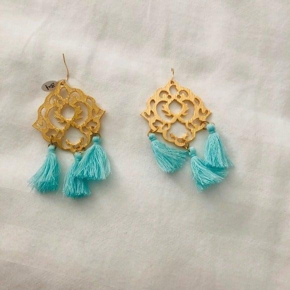 Susan Shaw Tassel Earrings Gold Plated