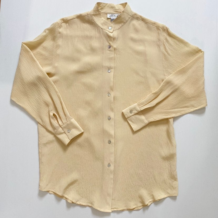 Vintage K Arnold 100% Silk Button Down S