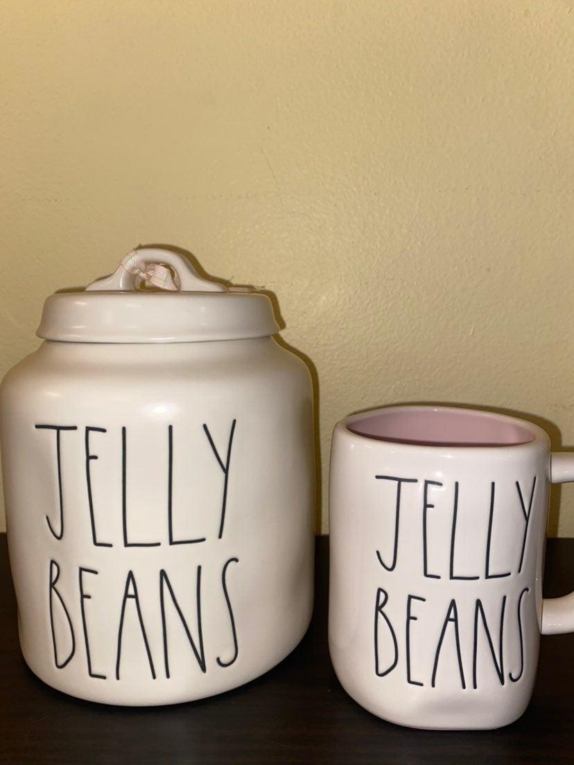 Rae Dunn Jelly Beans Canister & Mug