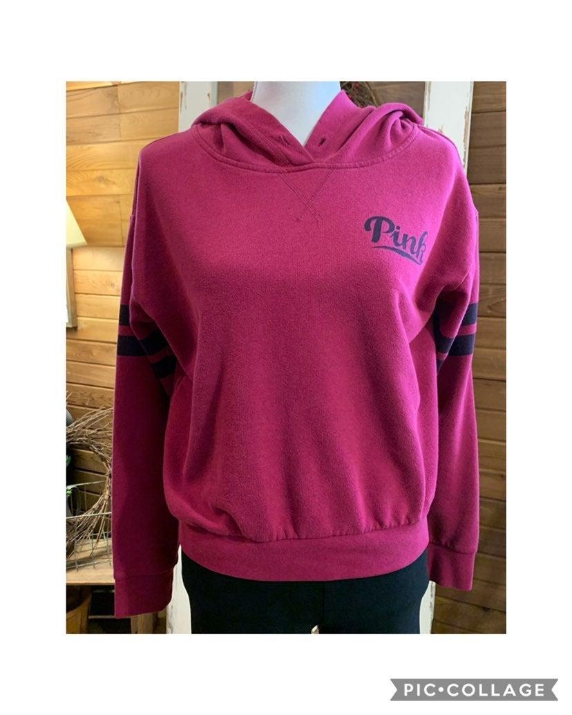 Victoria's Secret PINK dark pink hoodie