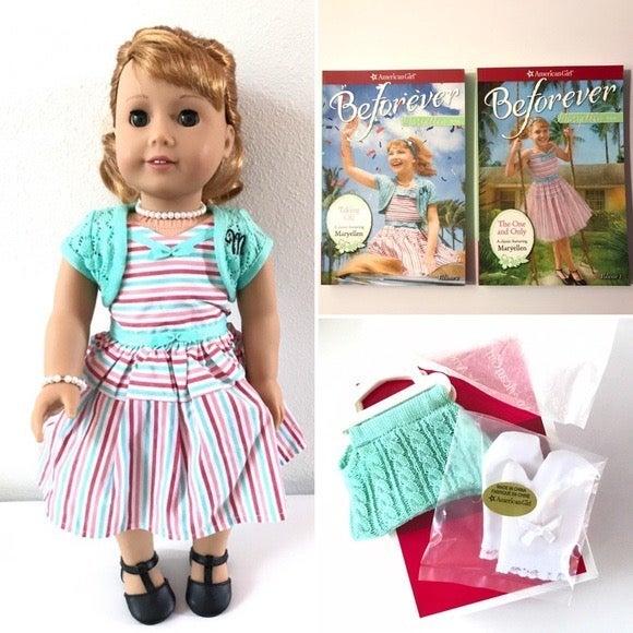 American Girl Doll Maryellen + Accessories & Books Lot