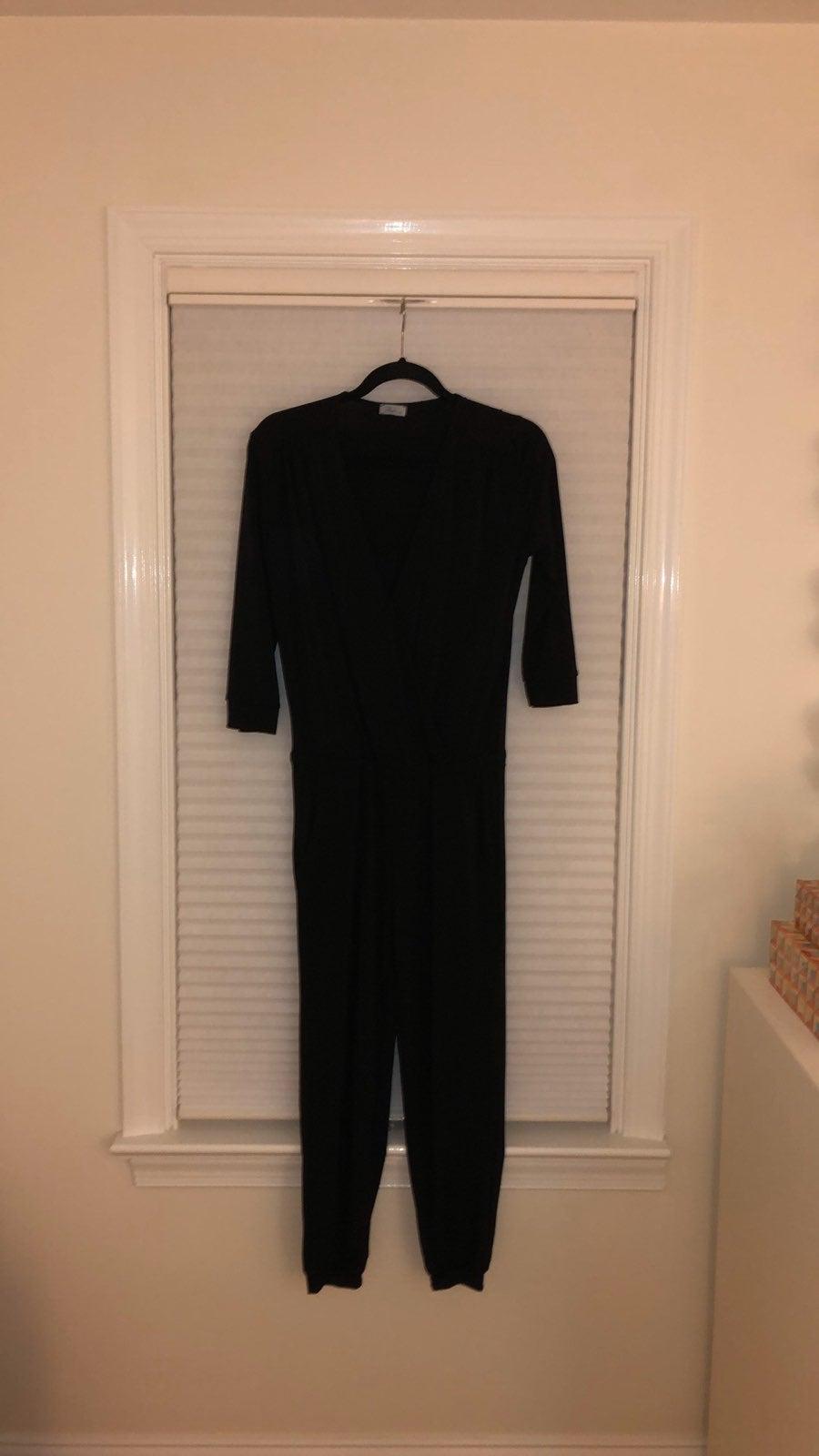 Long skeeve Black Jumpsuit abberline
