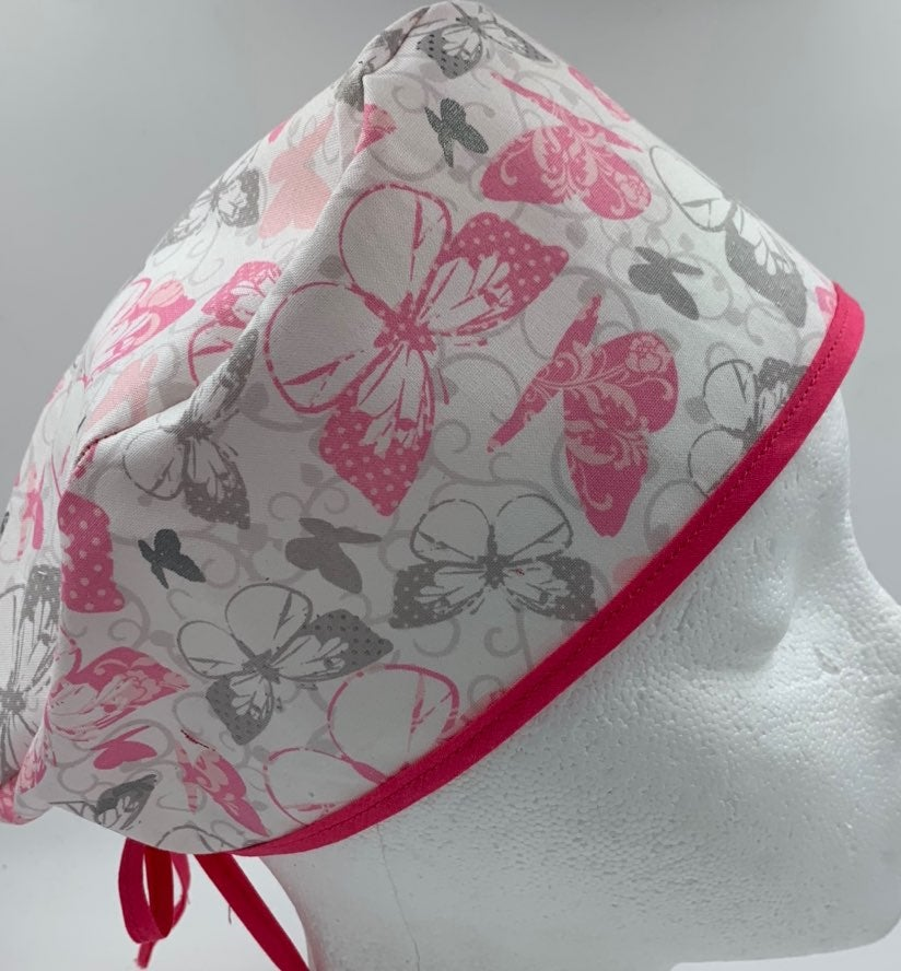 Butterflies Scrub cap/nurse/ chemo