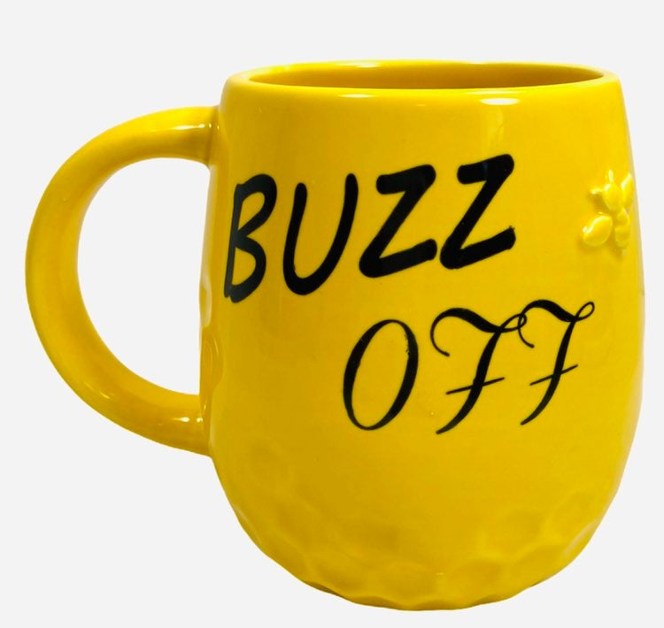 Cracker Barrel Buzz Off Yellow Coffee Mu