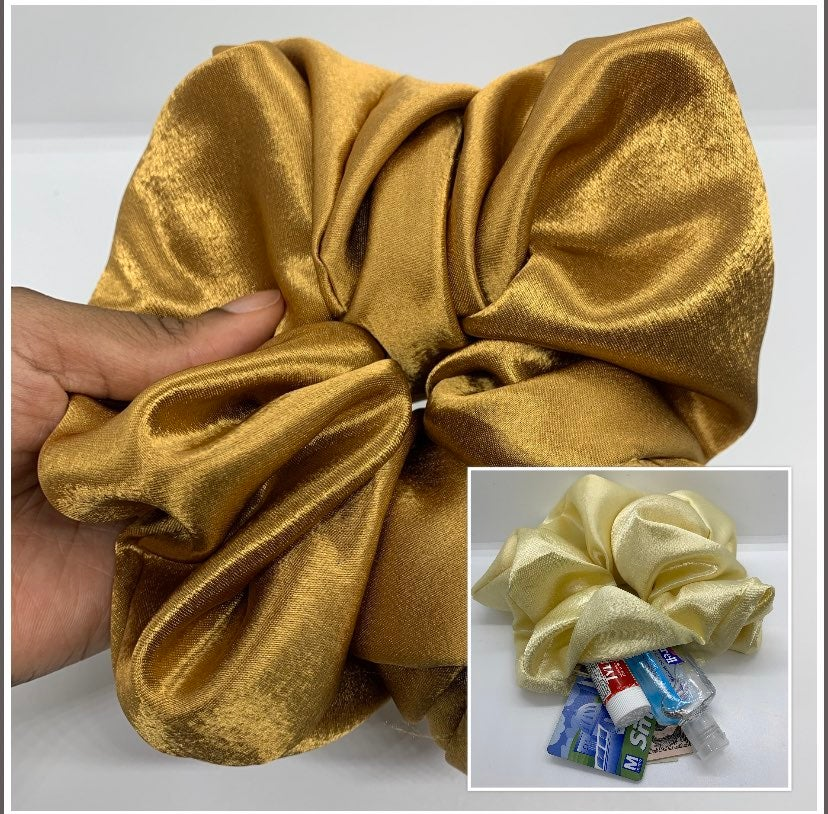 OVERSIZED Zipper Pouch Scrunchie