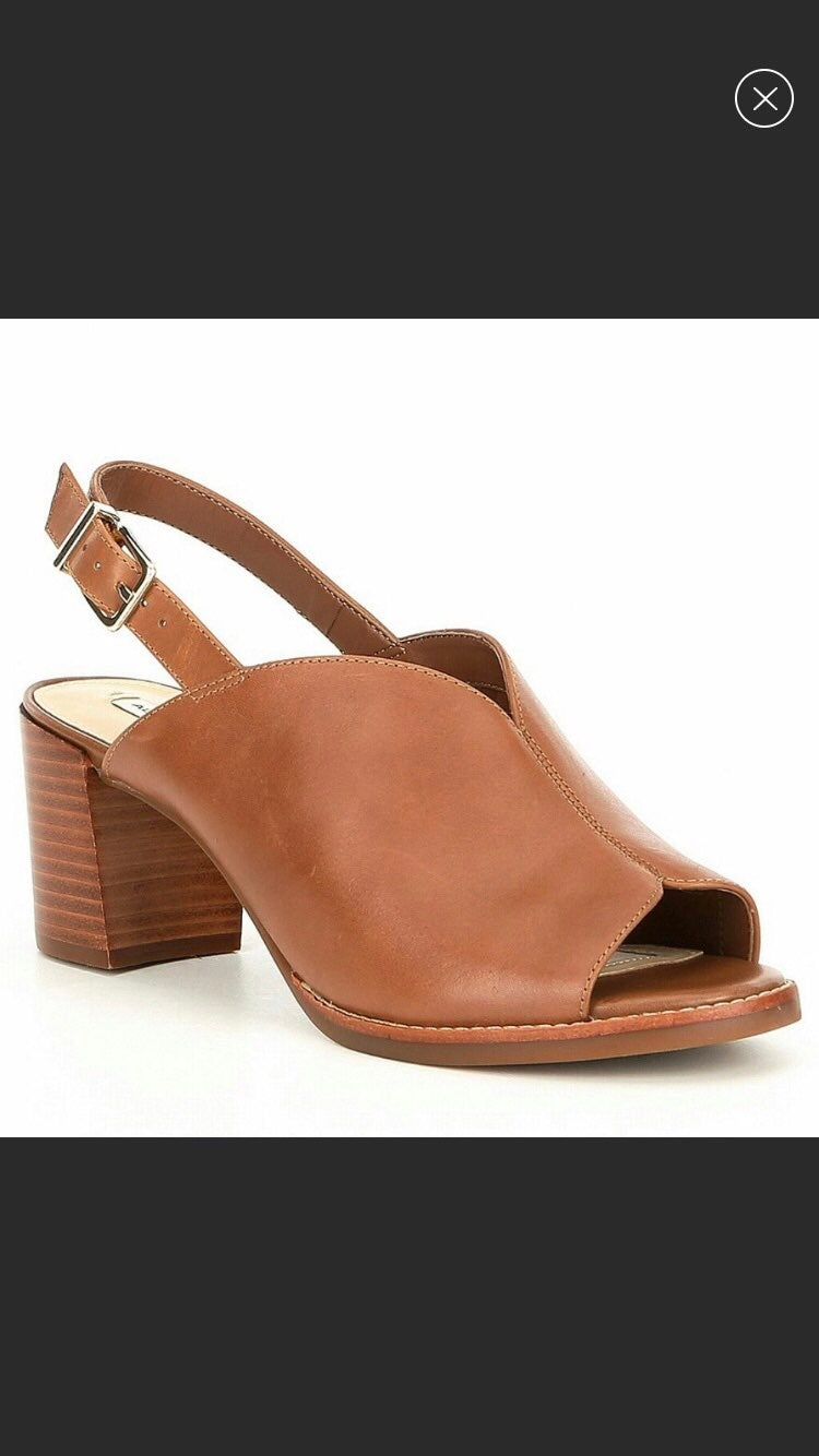 Alex Marie Kamryn Leather Peep Sandals