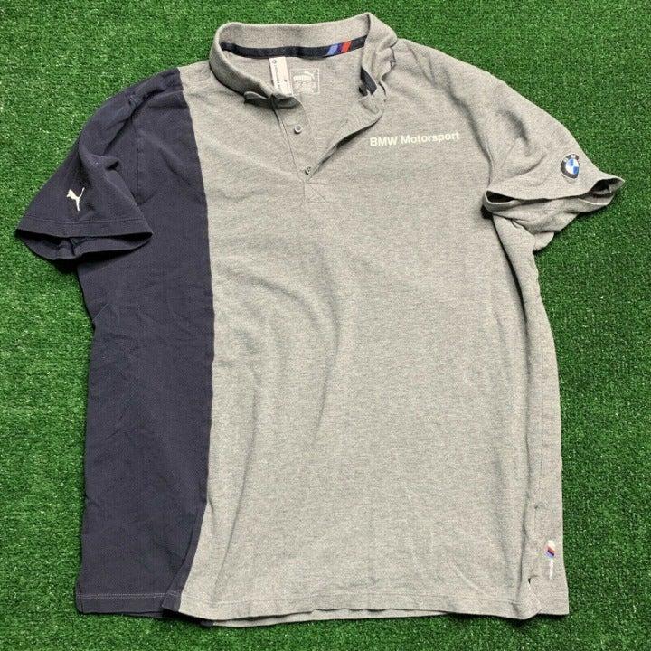 BMW Puma Polo Shirt Size XL Gray S/S