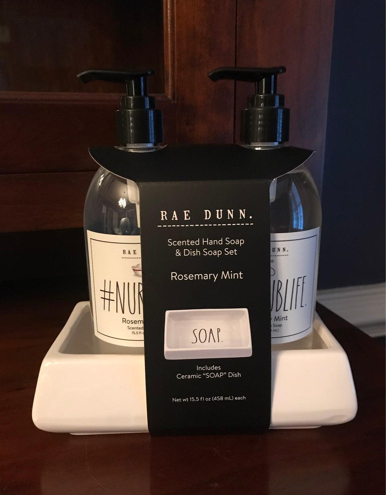 Rae Dunn NURSE Hand & Dish Soap Set