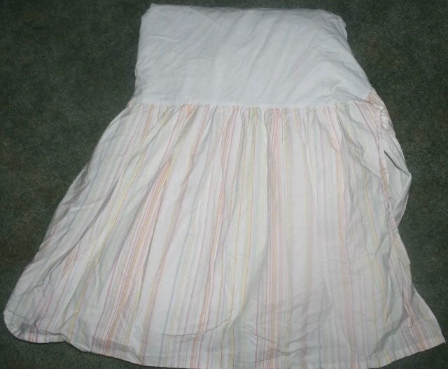 Amy Coe Pink Striped Crib Bed Skirt