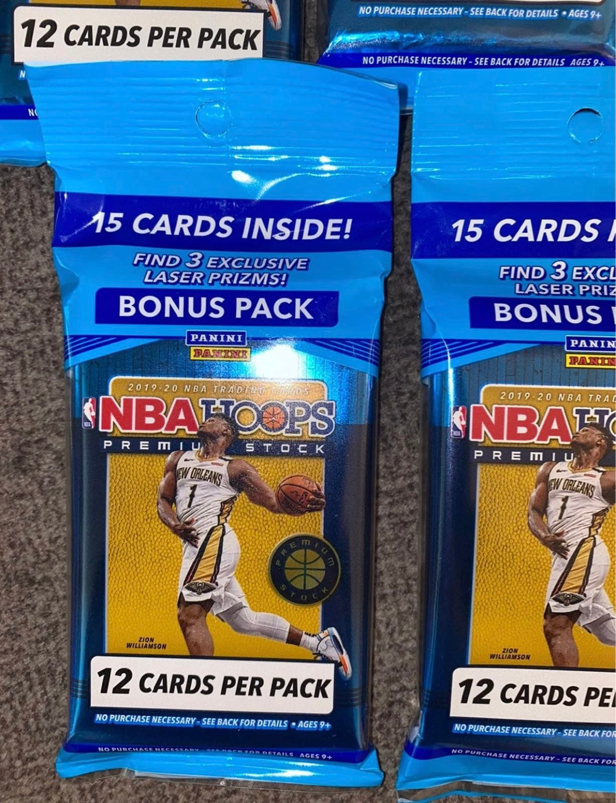 Panini NBA Hoops Premium Stock Cards