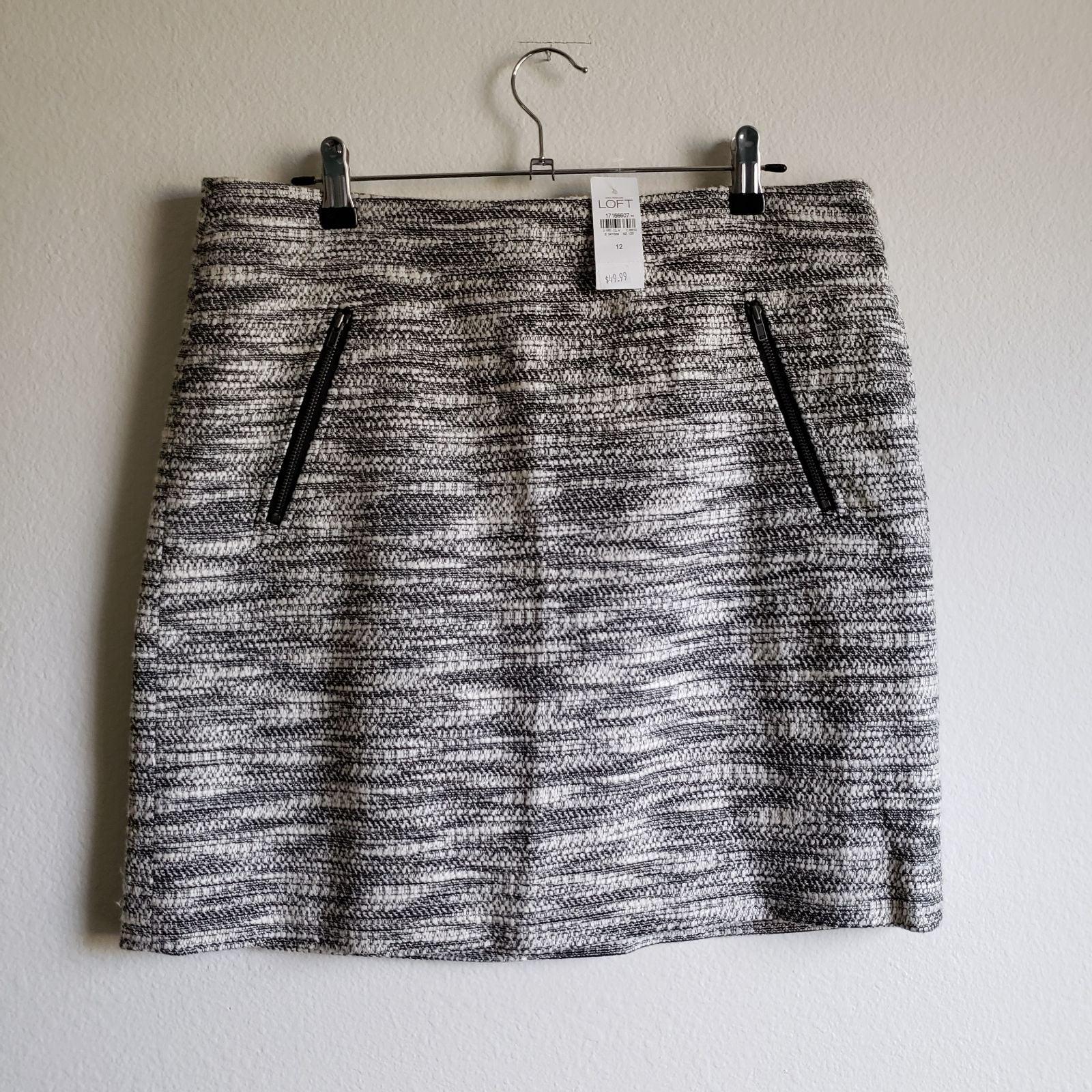 LOFT Shift Mini Skirt, Tweed