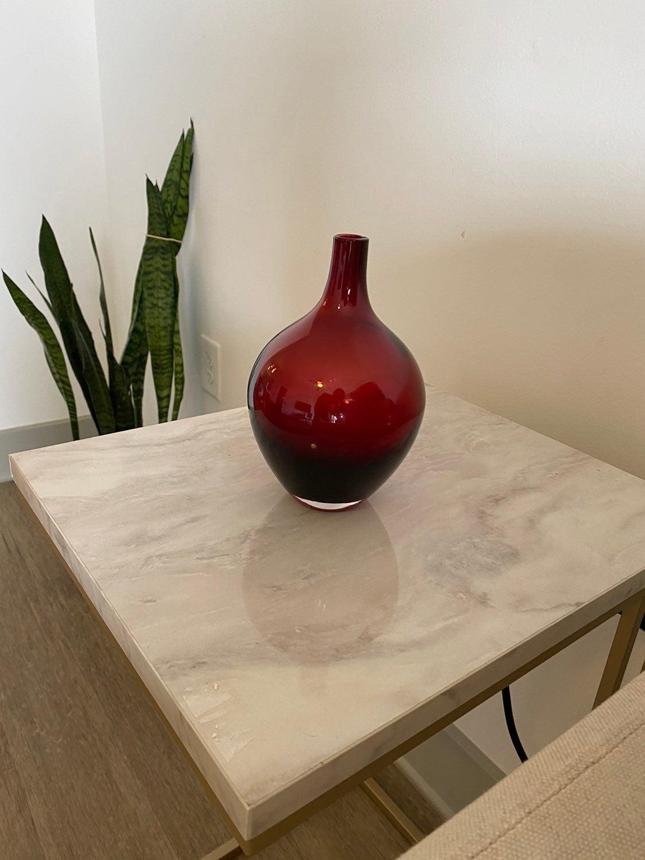 Red West Elm Vase
