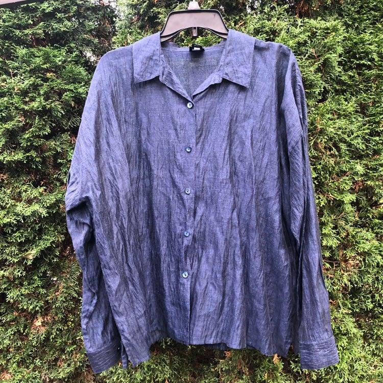 Eileen Fisher Linen Button Down Shirt