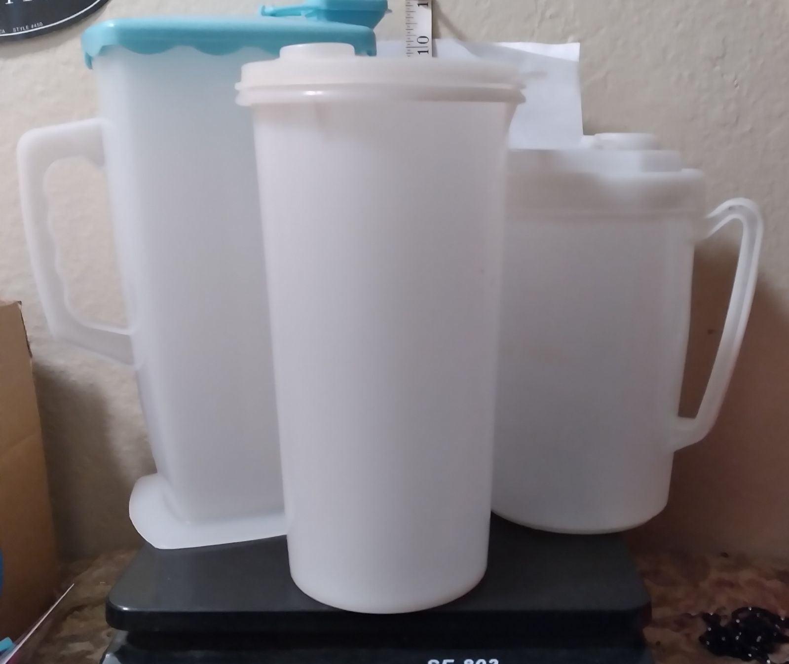 3 Plastic (1 Tupperware & 2 Type) Contai