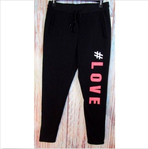 Bobbie Brooks Sz Large Black Sweatpants