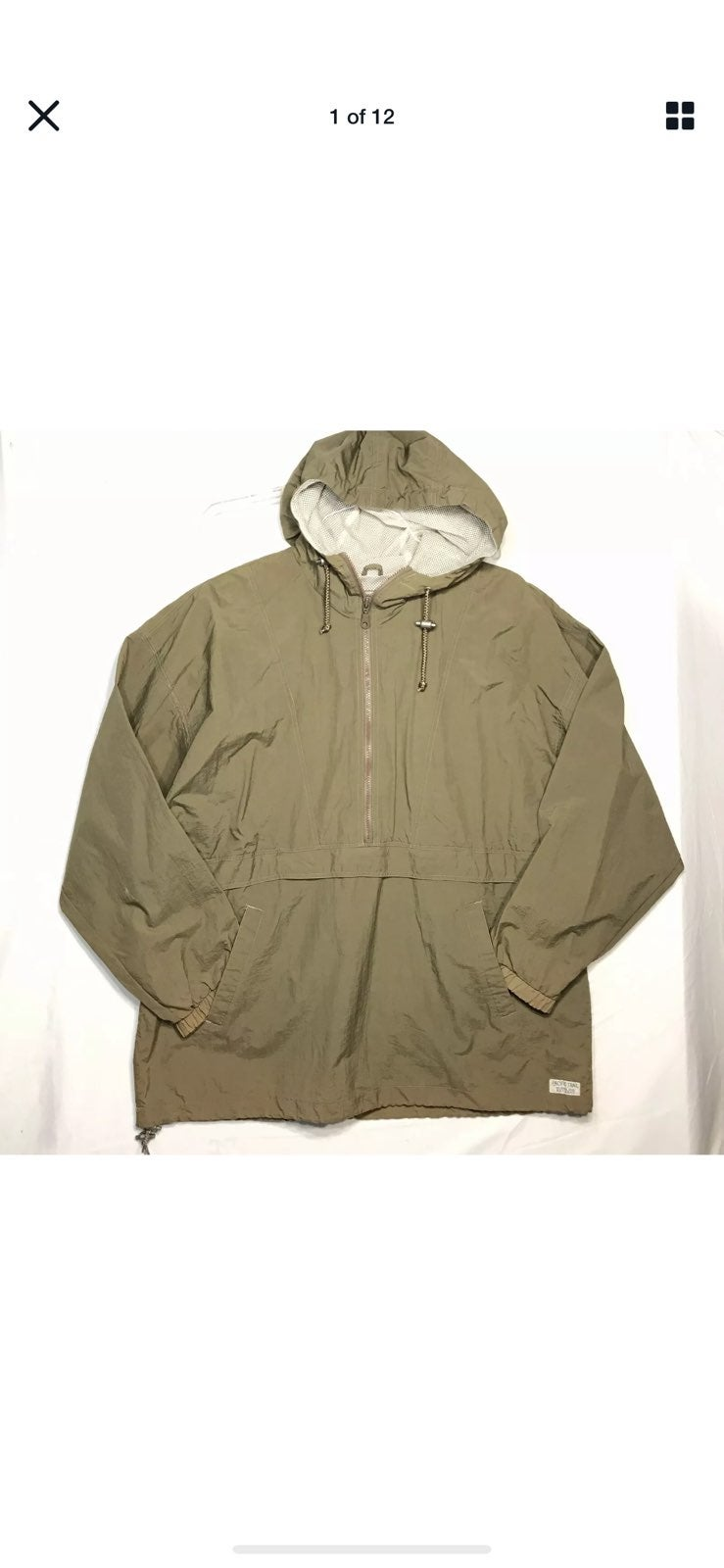 Pacific Trail Large Nylon Jacket Green
