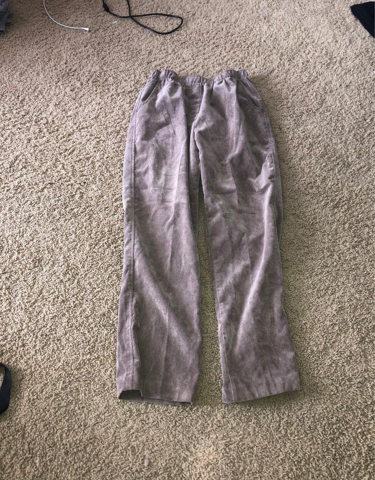 Courderoy elastic waist pants