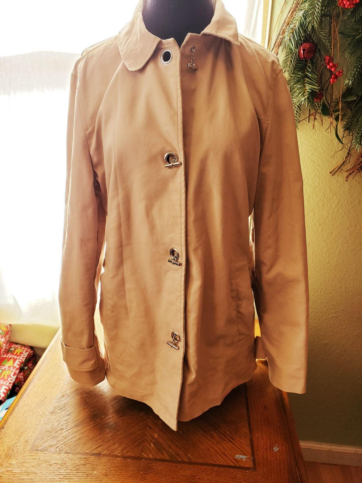 Coat, george, L(12/14), like new, beige
