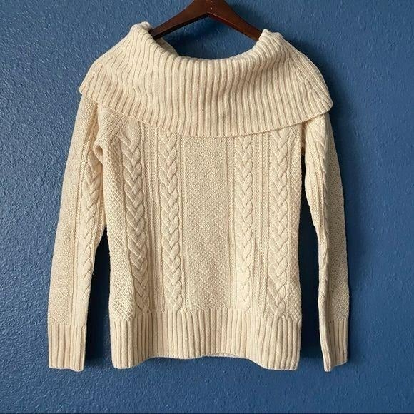 Brooks Brothers Cable Knit Wool Sweater