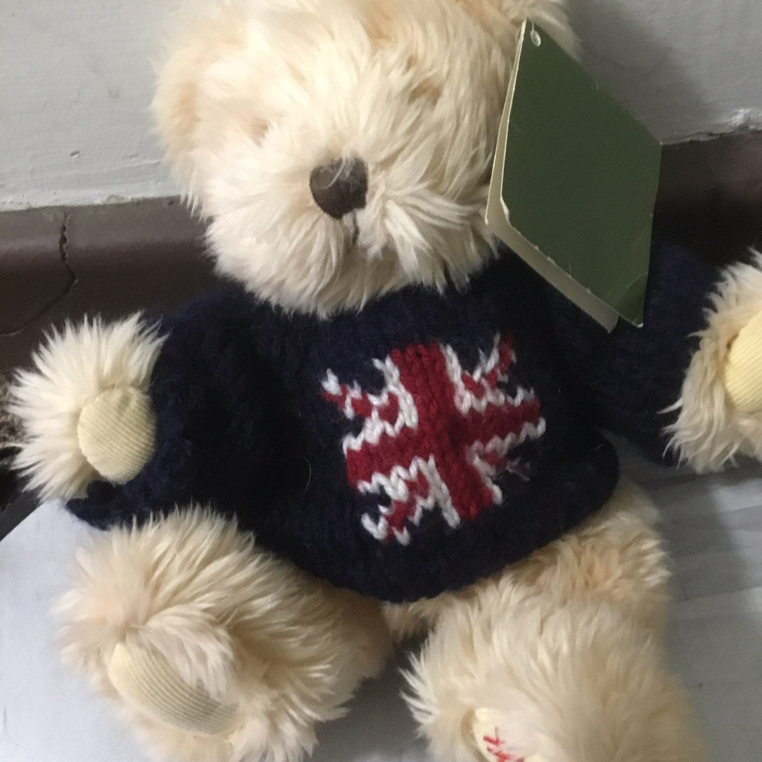 Harrods union jack plush bear