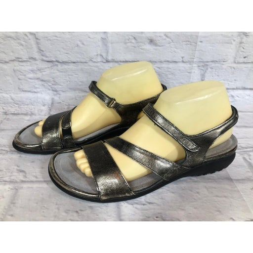NAOT Faso Metal Silver Leather Sandals